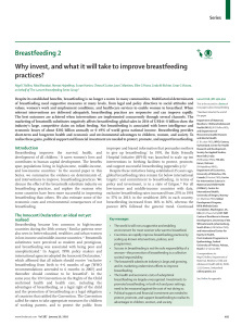 Breastfeeding 2 Why invest, and what it will take to