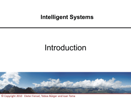 Intelligent Systems - Teaching-WIKI