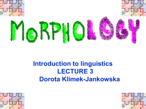 Morphology 1 powerpoint presentation