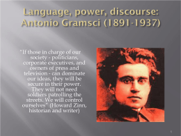 Language and Hegemony in Antonio Gramsci