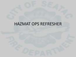 Hazmat Ops Refresher PowerPoint