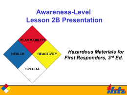 Lesson 2B - Ashland City Fire Department