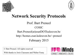 Network security protocols - Secure Application Development