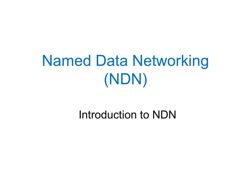 NDN-Intro