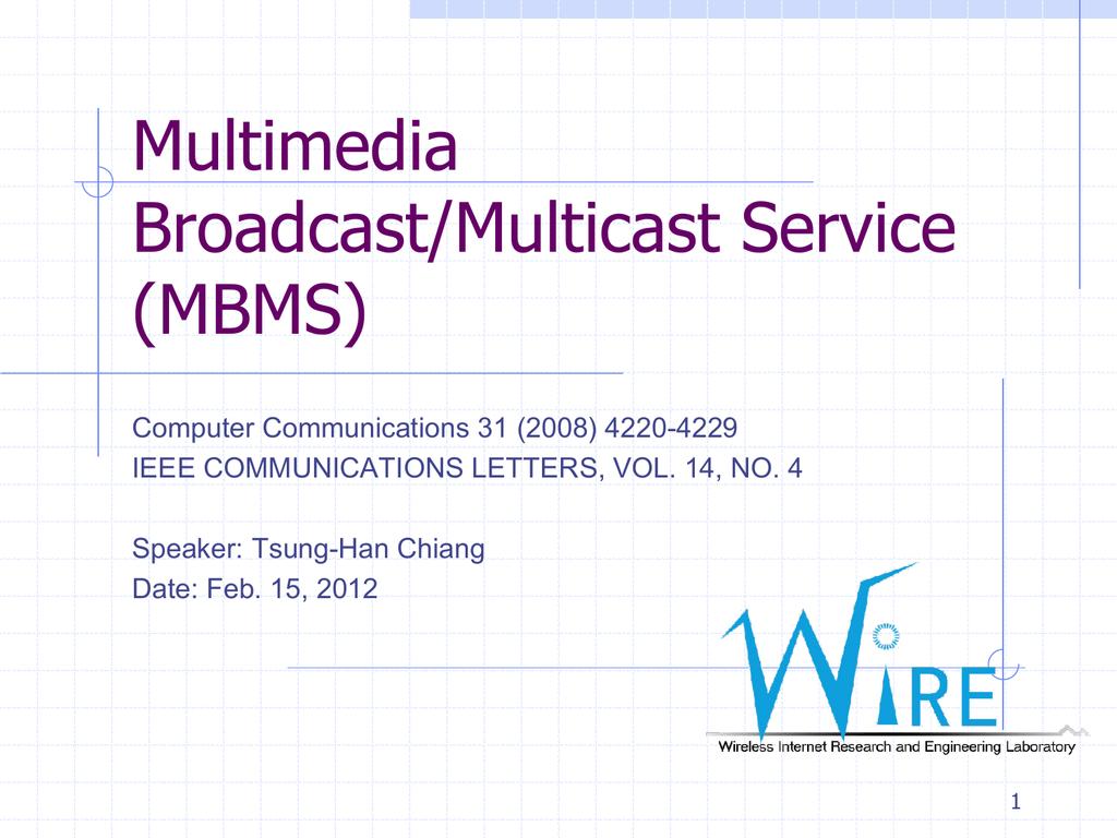 Multimedia Multicast on the Internet
