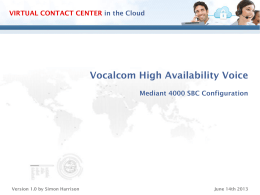 Vocalcom Technical Voice Architecture