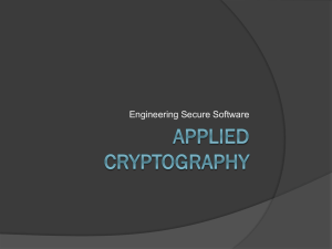 12 Cryptography - Software Engineering @ RIT