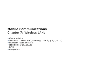 Chapter 7. Wireless LANs