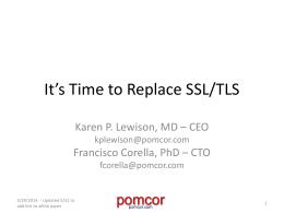 Presentation on replacing TLS at the University of Utah