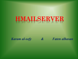 What is HMailServer :