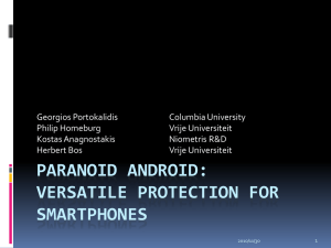 Paranoid Android: Versatile Protection For Smartphones
