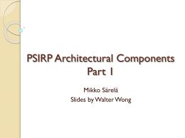 PSIRP Architecture