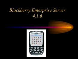 Blackberry manager