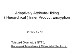 (Hierarchical) Inner Product Encryption