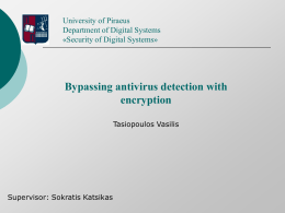 Bypassing Antivirus Detection with Encryption (short paper)