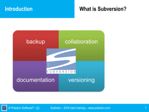 Subtrain – SVN User training