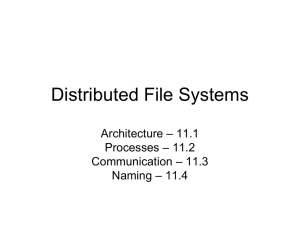 Distributed File Systems – 1