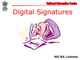 Digital Signature Introduction