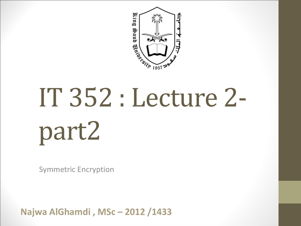 Ppt It352 Network Security