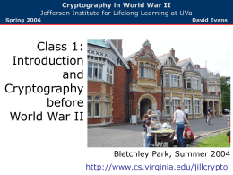 Introduction, Cryptography before World War II