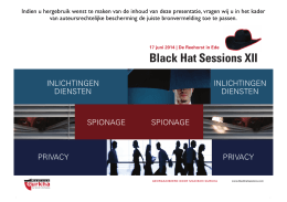 Black Hat Sessions XII