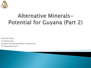 Alternative Minerals-Potential for Guyana (Part 2)
