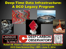 A DCO Data Legacy? - Deep Carbon Observatory