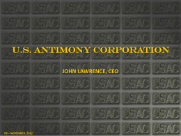 Presentation (PowerPoint) - United States Antimony Corporation