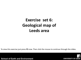 Geological map of Leeds area - School of Earth and Environment