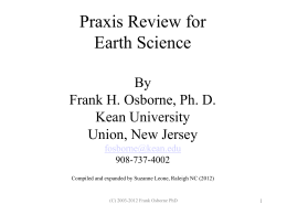 Study Guide for the Praxis II in Earth