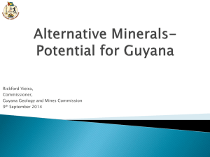 Minerals Of Guyana - Guyana Geology and Mines Commission
