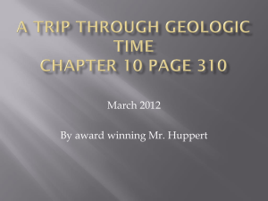 A trip through geologic time Feb. 2012