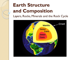 13. Earth Structure, Rocks, Minerals and the Rock Cycle