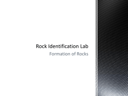 Rock Identification Lab