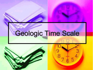 Geologic Time Scale - Mrs. Meadows Science