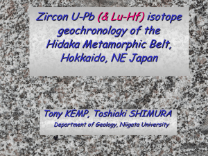 Lu-Hf isotopes in zircon