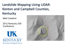 Using LiDAR to Map Landslides in Kenton and