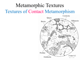 Chapter 23, Metamorpic Textures