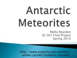Antarctic Meteorites - Emporia State University