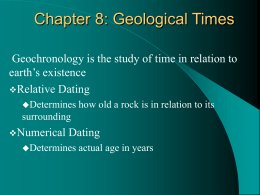 Chapter 12 Geologic Time Section 12.3 Dating With Radioactivity