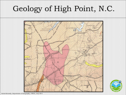 The Geology of High Point, NC  - GK-12