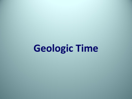 Chapter 21: Geologic Time