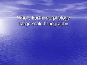 Large scale topography