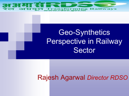 Research Design & Standard Organisation, RDSO by Rajesh Agarwal