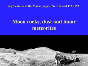 Moon rocks, dust and lunar meteorites