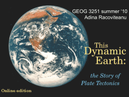 Lecture#3 part1: Dynamic Earth