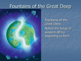 Fountains of the Great Deep