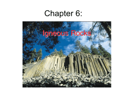 Chapter 6: Igneous Rocks