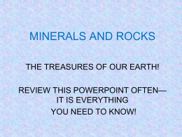 Minerals & Rocks Review