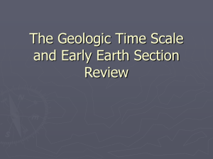 The Geologic Time Scale and Early Earth